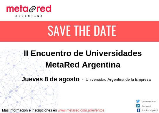 save the date - II Encuentro MetaRed Argentina